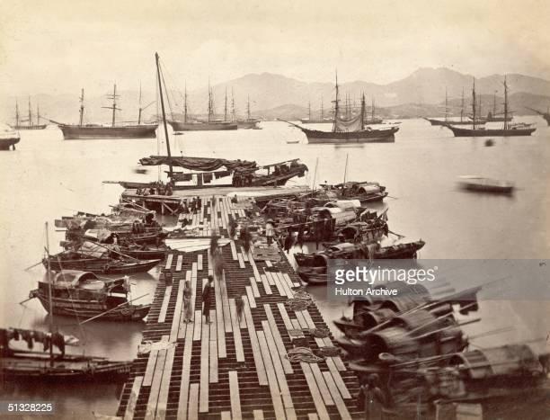 MacGregor Pier in Hong Kong after a typhoon circa 1890