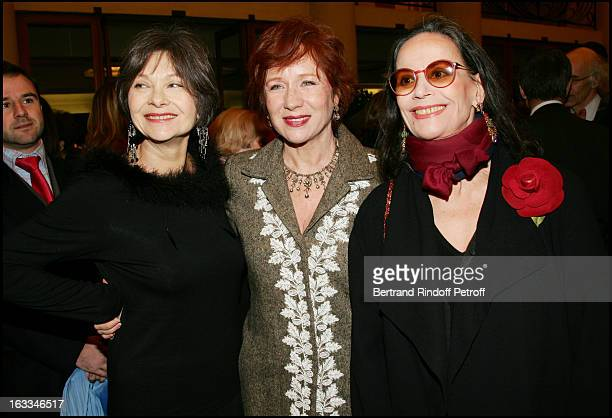 Macha Darlan Eva Darlan and Claudine Auger at the 12th Gala Performance Musique Contre L' Oubli In Aid Of Amnesty International At Theatre Champs...