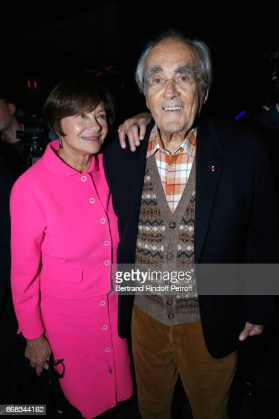 Macha Meril and her husband Michel Legrand attend Claude Lelouch celebrates his 80th Birthday at Restaurant Victoria on October 30 2017 in Paris...