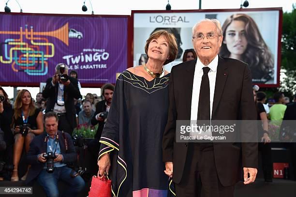 Macha Meril and Michel Legrand attend the 'La Rancon De La Gloire' premiere during the 71st Venice Film Festival on August 28, 2014 in Venice, Italy.