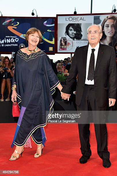 Macha Meril and Michel Legrand attend the 'La Rancon De La Gloire' premiere during the 71st Venice Film Festival on August 28 2014 in Venice Italy