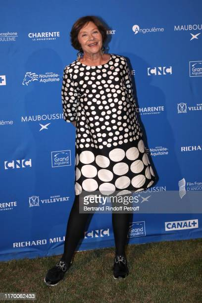 Macha Meril attends the 12th Angouleme French-Speaking Film Festival : Day Five - Dinner at the Domaine de Veuze on August 24, 2019 in...