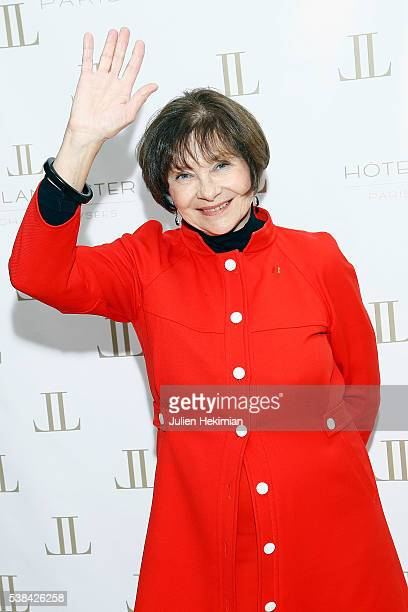 """Macha Meril attends the """"Tribute to Marlene Dietrich"""" Cocktail Party At Hotel Lancaster In Paris on June 6, 2016 in Paris, France."""