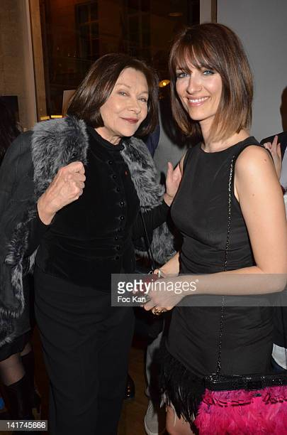 Macha Meryl and Diane Ducret attend the 'Prix Bel Ami 2012' Women Literary Awards at the Hotel Bel Ami on March 22 2012 in Paris France