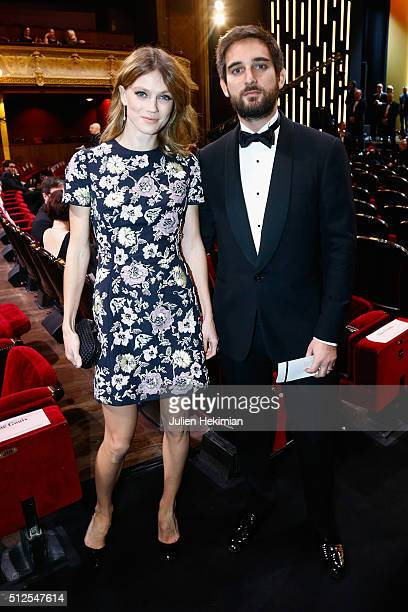Macha Rassam and a friend attend The Cesar Film Award 2016 at Theatre du Chatelet on February 26 2016 in Paris France