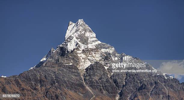 machapuchare mountain - machapuchare stock photos and pictures