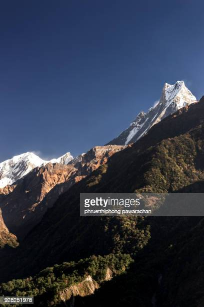 Machapuchare peak during way to Annapurna Base Camp (ABC).
