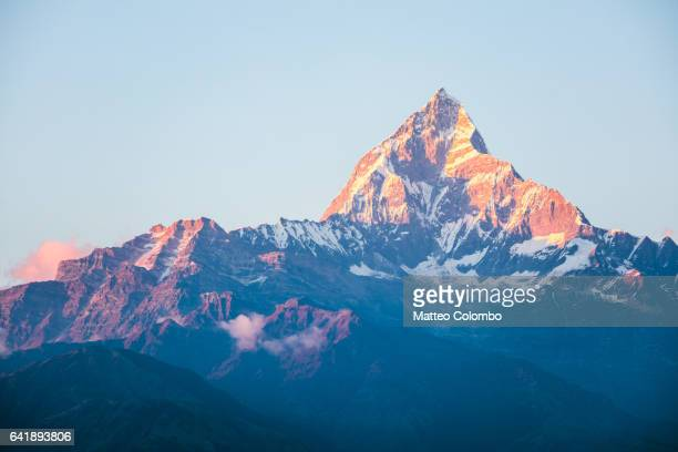 Machapuchare peak in the Annapurna mountain range, Nepal