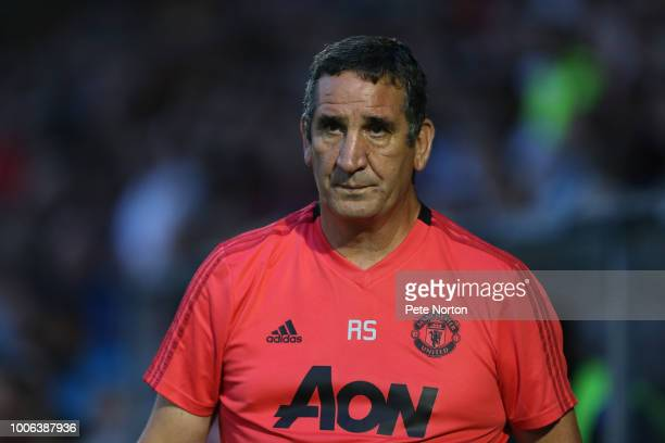 Machester United U23 Head Coach Ricky Sbragia looks on during the PreSeason Friendly match between Northampton Town and Manchester United XI at PTS...