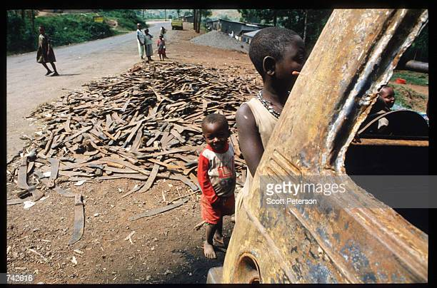 Machetes discarded along the road were used to murder Tutsis May 25 1994 in Rwanda Following the assassination of President Juvenal Habyarimana in...