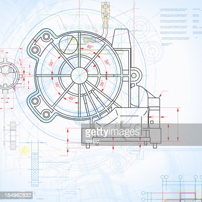 Machine blueprint outline design paperwork document stock photo machine blueprint outline design paperwork document stock photo getty images malvernweather Gallery