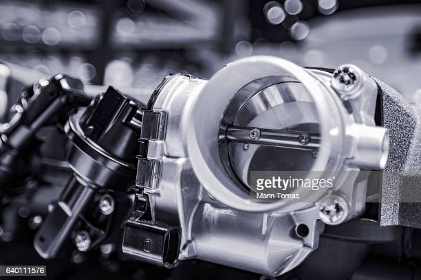 machine close up - link chain part stock photos and pictures