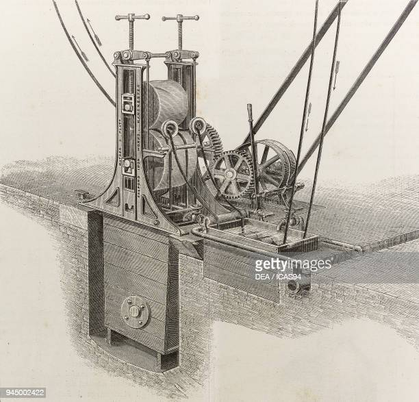 Machine for bleaching rags gathered in the form of ropes passage in hydrochloric acid and sulfuric acid baths produced by Mather Platt Manchester...