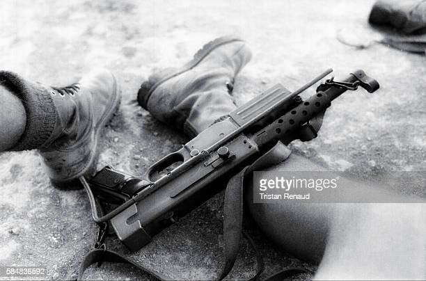 Machine gun and feet