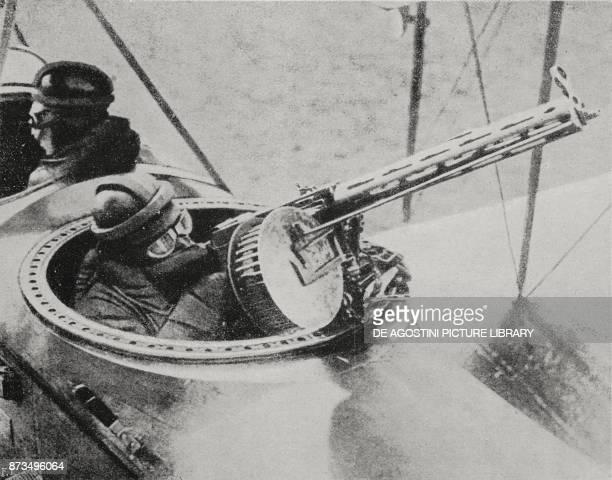 Machine gun from a German plane World War I from L'Illustrazione Italiana Year XLIV No 52 December 30 1917