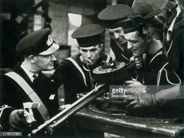 Machine gun instruction Fleet Air Arm circa 1943 British sailors learning how to use a machine gun during the Second World War The FAA is the section...
