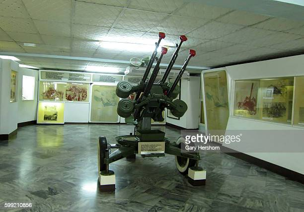 A machine gun is seen at the Museo Giron also known as The Bay of Pigs Museum at Giron in Playa Giron Cuba October 12 2014 The museum dedicated to...