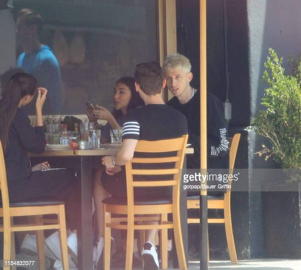 Machine Gun Kelly and Chantel Jeffries are seen on July 09 2019 in Los Angeles California