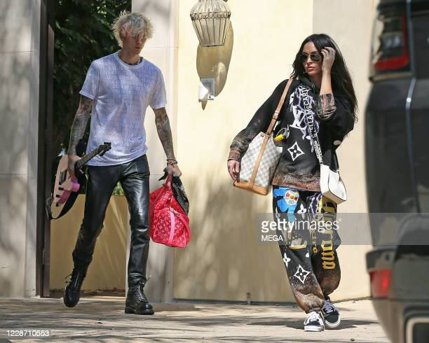 Machine Gun Kelly and Megan Fox are seen on September 25, 2020 in Los Angeles, California.