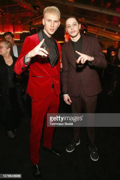 Machine Gun Kelly and Pete Davidson attend the Netflix 2019 Golden Globes After Party on January 6 2019 in Los Angeles California