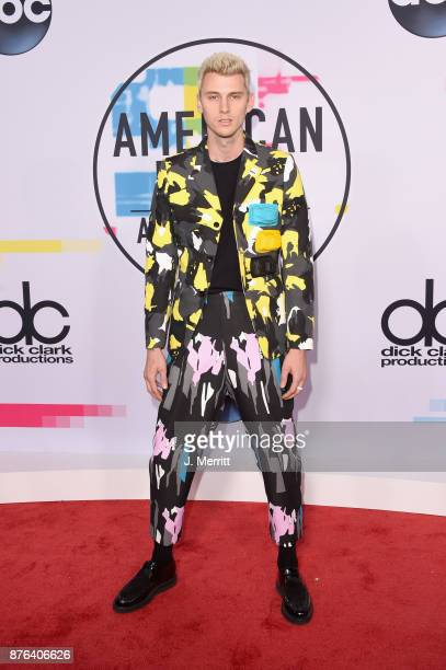 Machine Gun Kelly attends 2017 American Music Awards at Microsoft Theater on November 19 2017 in Los Angeles California