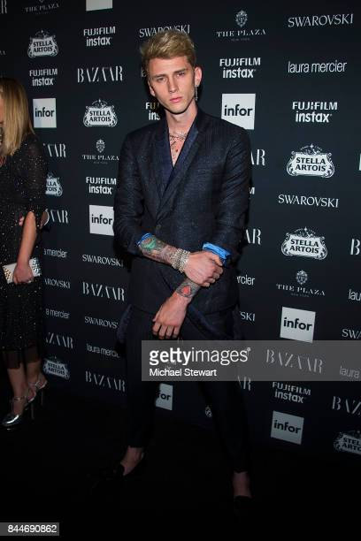 Machine Gun Kelly attends 2017 Harper's Bazaar Icons at The Plaza Hotel on September 8 2017 in New York City