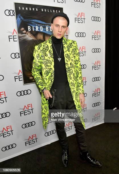 Machine Gun Kelly attends a screening of Netflix's 'Bird Box' at TCL Chinese Theatre on November 12 2018 in Los Angeles California