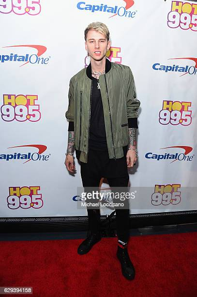 Machine Gun Kelly attends Hot 995's Jingle Ball 2016 at Verizon Center on December 12 2016 in Washington DC
