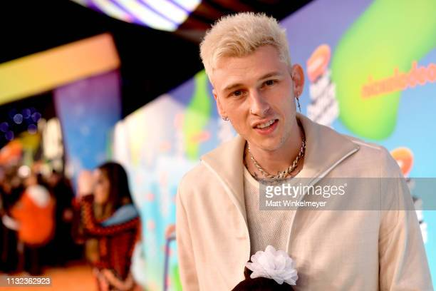 Machine Gun Kelly attends Nickelodeon's 2019 Kids' Choice Awards at Galen Center on March 23 2019 in Los Angeles California