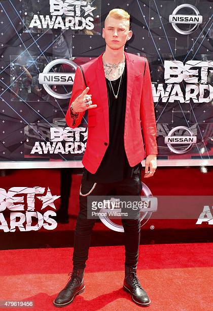 Machine Gun Kelly attends the 2015 BET Awards on June 28 2015 in Los Angeles California