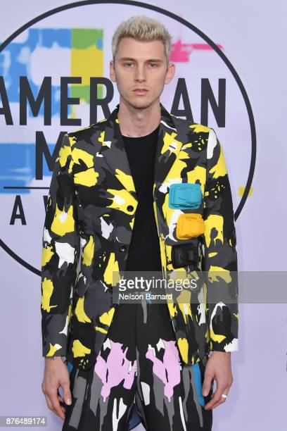 Machine Gun Kelly attends the 2017 American Music Awards at Microsoft Theater on November 19 2017 in Los Angeles California