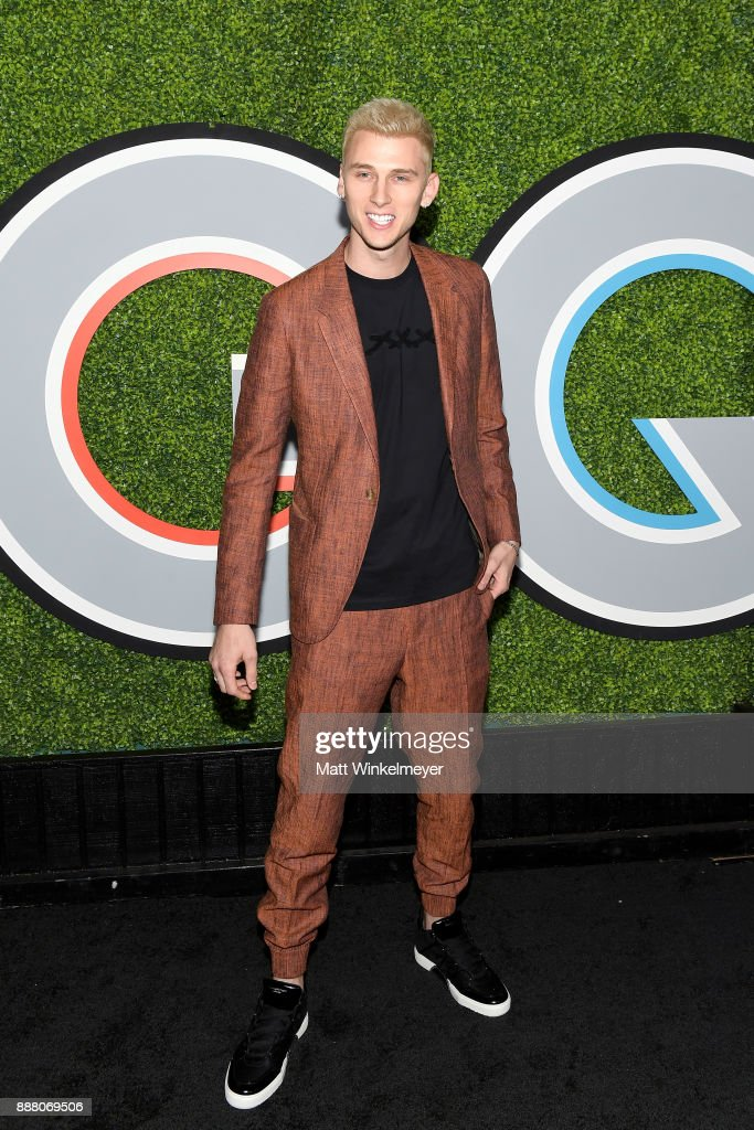 Machine Gun Kelly attends the 2017 GQ Men of the Year party at Chateau Marmont on December 7, 2017 in Los Angeles, California.