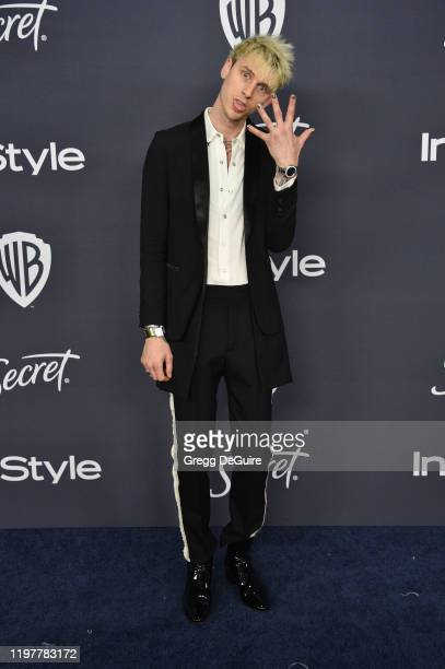 Machine Gun Kelly attends the 21st Annual Warner Bros And InStyle Golden Globe After Party at The Beverly Hilton Hotel on January 05 2020 in Beverly...