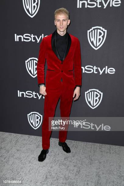Machine Gun Kelly attends the InStyle And Warner Bros Golden Globes After Party 2019 at The Beverly Hilton Hotel on January 6 2019 in Beverly Hills...