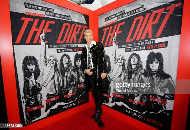"""Machine Gun Kelly attends the premiere of Netflix's 'The Dirt"""" at the Arclight Hollywood on March 18, 2019 in Hollywood, California."""