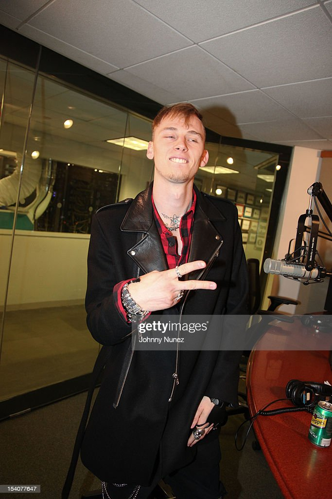 Machine Gun Kelly invades 'The Whoolywood Shuffle' at SiriusXM Studios on October 8, 2012 in New York City.
