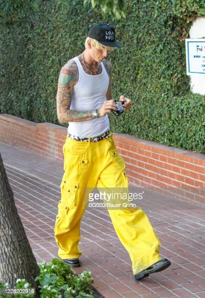 Machine Gun Kelly is seen on August 25, 2020 in Los Angeles, California.
