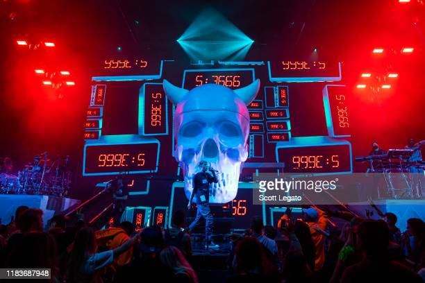 Machine Gun Kelly performs at the Fox Theatre on October 26 2019 in Detroit Michigan