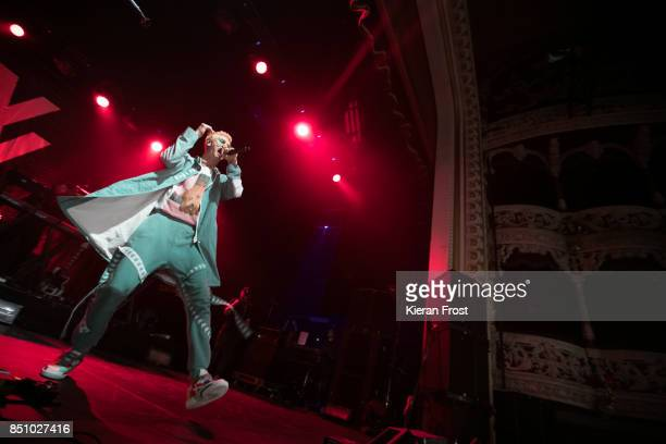 Machine Gun Kelly performs at the Olympia Theatre on September 21, 2017 in Dublin, Ireland.