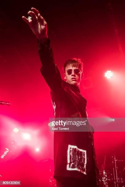 Machine Gun Kelly performs in concert at sala Razzmatazz 2 on July 5 2017 in Barcelona Spain