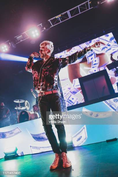 Machine Gun Kelly performs on stage at O2 Forum Kentish Town on August 31 2019 in London England
