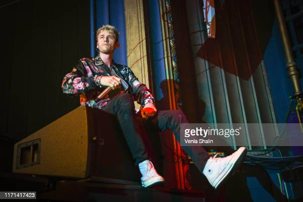 Machine Gun Kelly performs on stage at O2 Forum Kentish Town on August 31, 2019 in London, England.