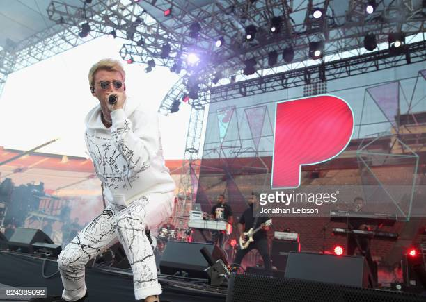 Machine Gun Kelly performs onstage at Pandora Sounds Like You Summer at Los Angeles Memorial Coliseum on July 29, 2017 in Los Angeles, California.