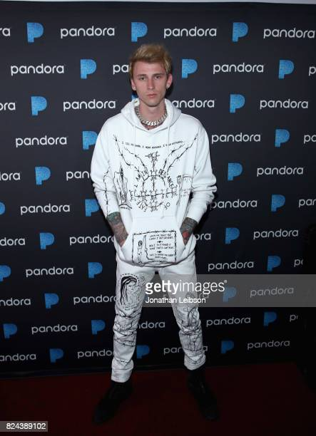 Machine Gun Kelly performs onstage at Pandora Sounds Like You Summer at Los Angeles Memorial Coliseum on July 29 2017 in Los Angeles California