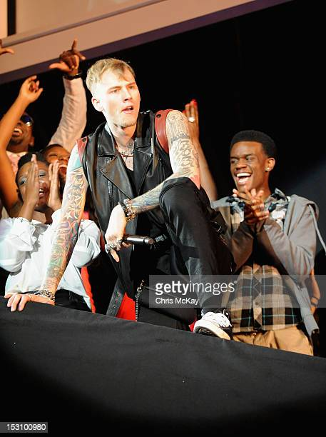 Machine Gun Kelly performs onstage at the 2012 BET Hip Hop Awards at Boisfeuillet Jones Atlanta Civic Center on September 29 2012 in Atlanta Georgia