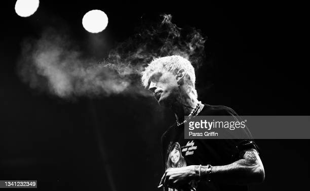 Machine Gun Kelly performs onstage during day 1 of 2021 Music Midtown at Piedmont Park on September 18, 2021 in Atlanta, Georgia.