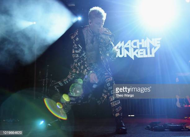 Machine Gun Kelly performs onstage during Day 2 of Billboard Hot 100 Festival 2018 at Northwell Health at Jones Beach Theater on August 19, 2018 in...