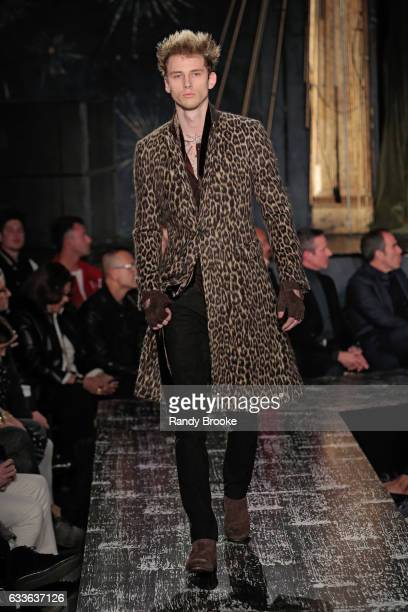 Machine Gun Kelly walks the runway during the John Varvatos NYFW Men's fashion show on February 2 2017 in New York City