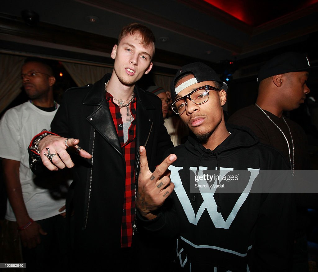 Machine Gun Kenny and Bow Wow attend the Machine Gun Kelly Album Release Party at RdV Lounge on October 8, 2012 in New York City.