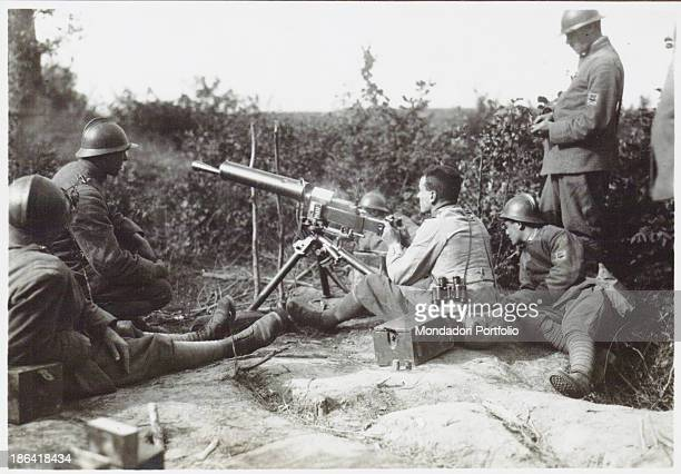ARMY Machine guns in the front line 19151918 Gelatine process Rome Central Museum of the Risorgimento